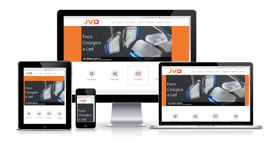 Portfólio site JVD Biomédica